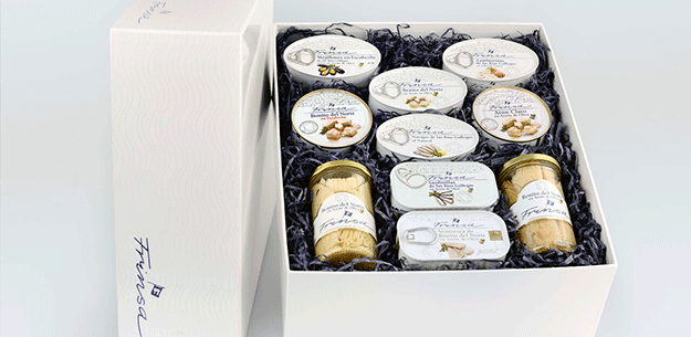 Spanish food & wine gifts. Frinsa fish and shellfish preserves