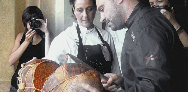 Spanish Chef Xesc Reina and his creative charcuterie (sobrassada)