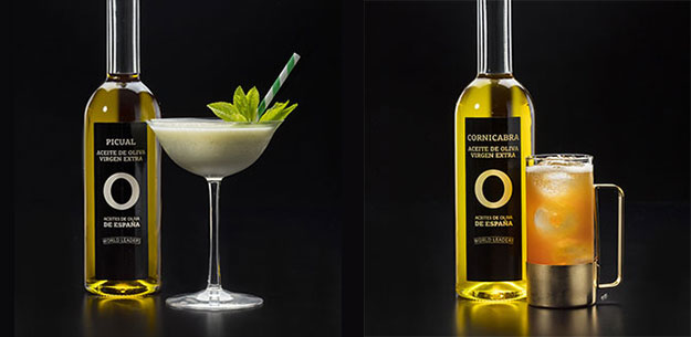 Cocktails with Spanish extra virgin olive oil