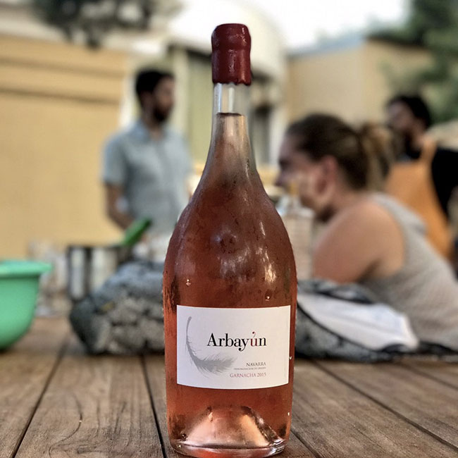 Arbayún rosé wine from Spain by Fernando Chivite. Photo: Arbayún winery