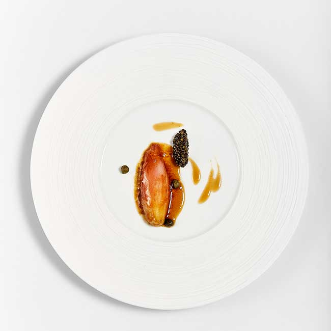 Madrid Fusion 2020 culinary summit. A dish by Josean Alija