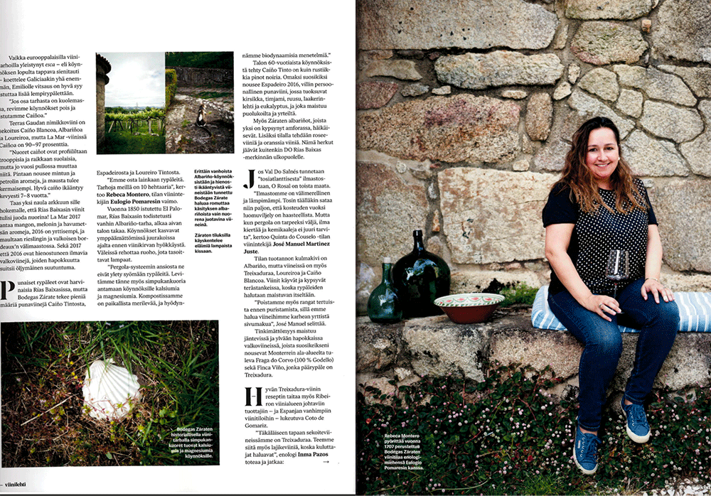 Galician Wines in the Spotlight in Report in Finnish Wine Publication